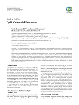 Review Article Cyclic Catamenial Dermatoses Trinh Hermanns-Lê, Jean-François Hermanns,