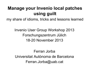 Manage your Invenio local patches using guilt
