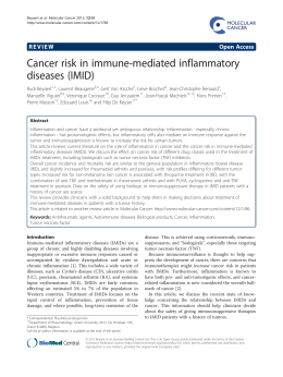 Cancer risk in immune-mediated inflammatory diseases (IMID) Open Access
