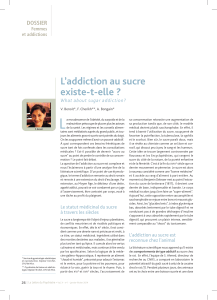 L L'addiction au sucre existe-t-elle ? DOSSIER