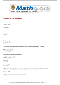 exercices ensemble de nombres maths seconde 138
