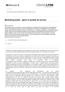 Marketing public : gérer la qualité de service