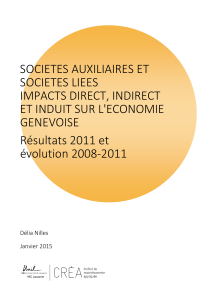 SOCIETES AUXILIAIRES ET SOCIETES LIEES IMPACTS DIRECT, INDIRECT