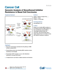 Genomic Analysis of Smoothened Inhibitor Resistance in Basal Cell Carcinoma Article Graphical Abstract