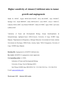 Adamts12 growth and angiogenesis