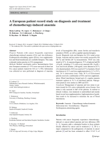A European patient record study on diagnosis and treatment ORIGINAL ARTICLE