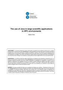 The use of Java in large scientific applications in HPC environments
