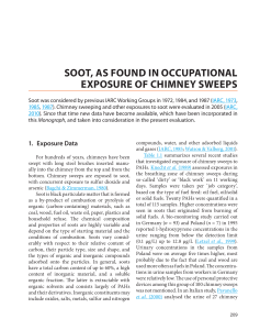 SOOT, AS FOUND IN OCCUPATIONAL EXPOSURE OF CHIMNEY SWEEPS (