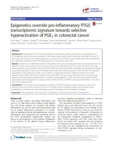Epigenetics override pro-inflammatory PTGS transcriptomic signature towards selective hyperactivation of PGE