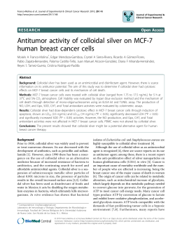Antitumor activity of colloidal silver on MCF-7 human breast cancer cells