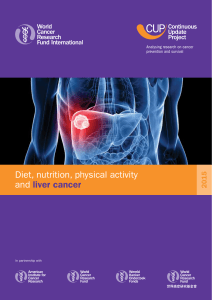 Diet, nutrition, physical activity and liver cancer 2015