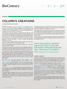 COLUMN'S CREATIONS FINANCE