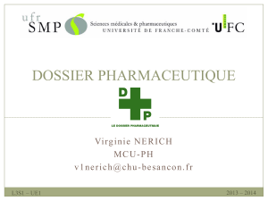 DOSSIER PHARMACEUTIQUE M C U - P H