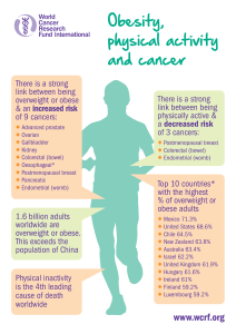 Obesity, physical activity and cancer