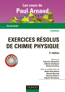 p arnaud exercices de chimie physique