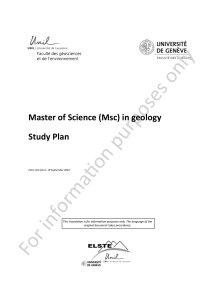 tion purposes only forma Master of Science (Msc) in geology Study Plan