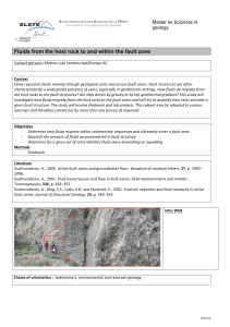 Fluids from the host rock to and within the fault zone