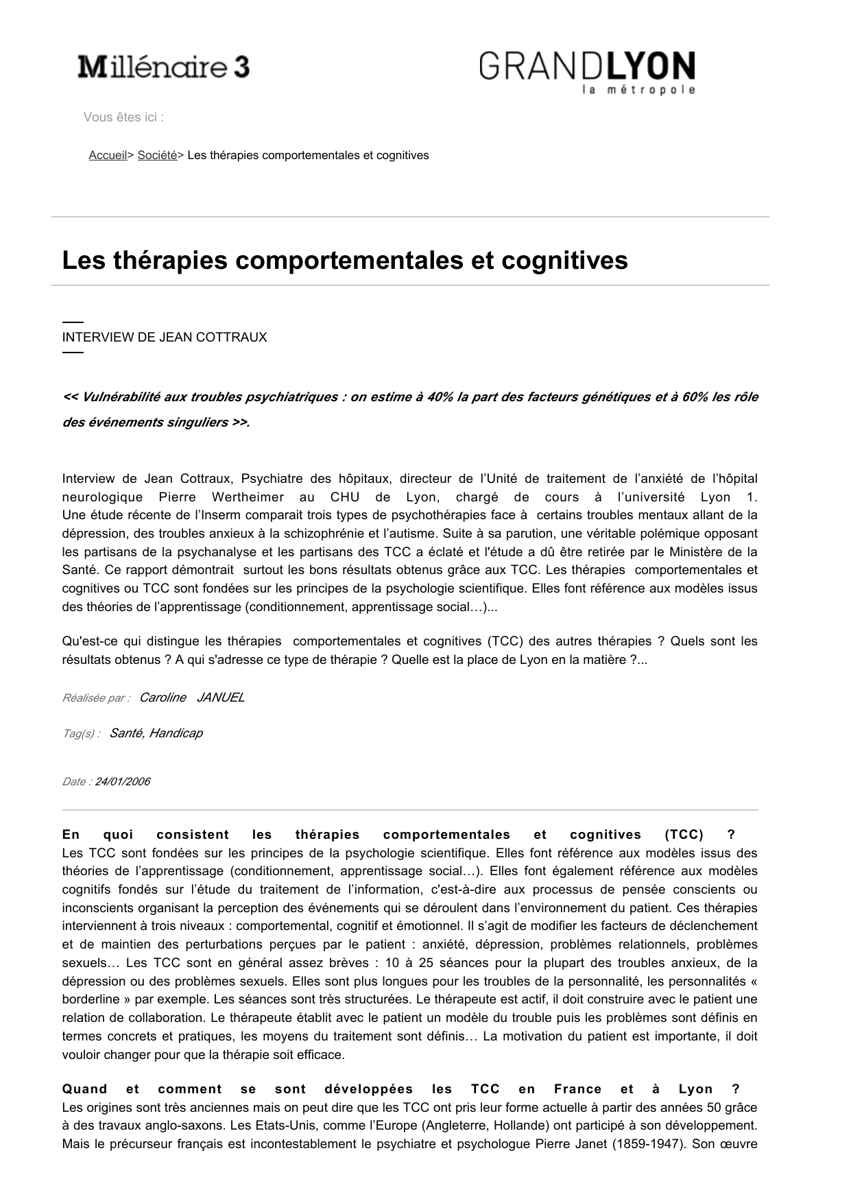 Thérapie cognitivo-comportementale datant