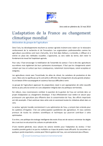 L'adaptation de la France au changement climatique mondial
