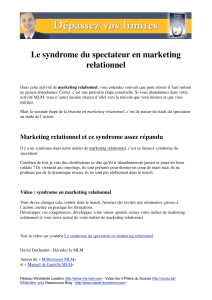 Le syndrome du spectateur en marketing relationnel