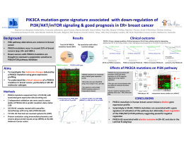 "PIK3CA!mutation""gene!signature!associated!!with!down""regulation!of PI3K/AKT/mTOR!signaling!&!good!prognosis!in!ER+!breast!cancer"
