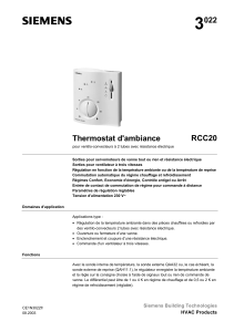 3 022 RCC20 Thermostat d'ambiance
