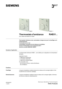 3 017 RAB31... Thermostats