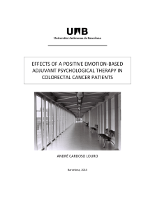 EFFECTS OF A POSITIVE EMOTION-BASED ADJUVANT PSYCHOLOGICAL THERAPY IN COLORECTAL CANCER PATIENTS