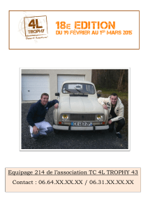 Equipage 214 de l'association TC 4L TROPHY 43