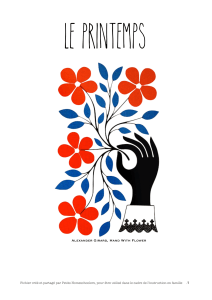 LE PRINTEMPS Alexander Girard, Hand With Flower
