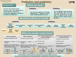 What are they? Prebiotics Probiotics My goals were…