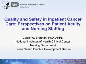 Quality and Safety in Inpatient Cancer Care: Perspectives on Patient Acuity