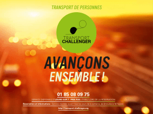 AvAnçons ensemble ! TRAnsPoRT De PeRsonnes 01 85 08 09 75
