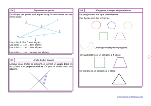 G6 Alignement de points G8 Polygones, triangles et quadrilatères