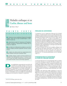 Maladie cœliaque et os Coeliac disease and bone D