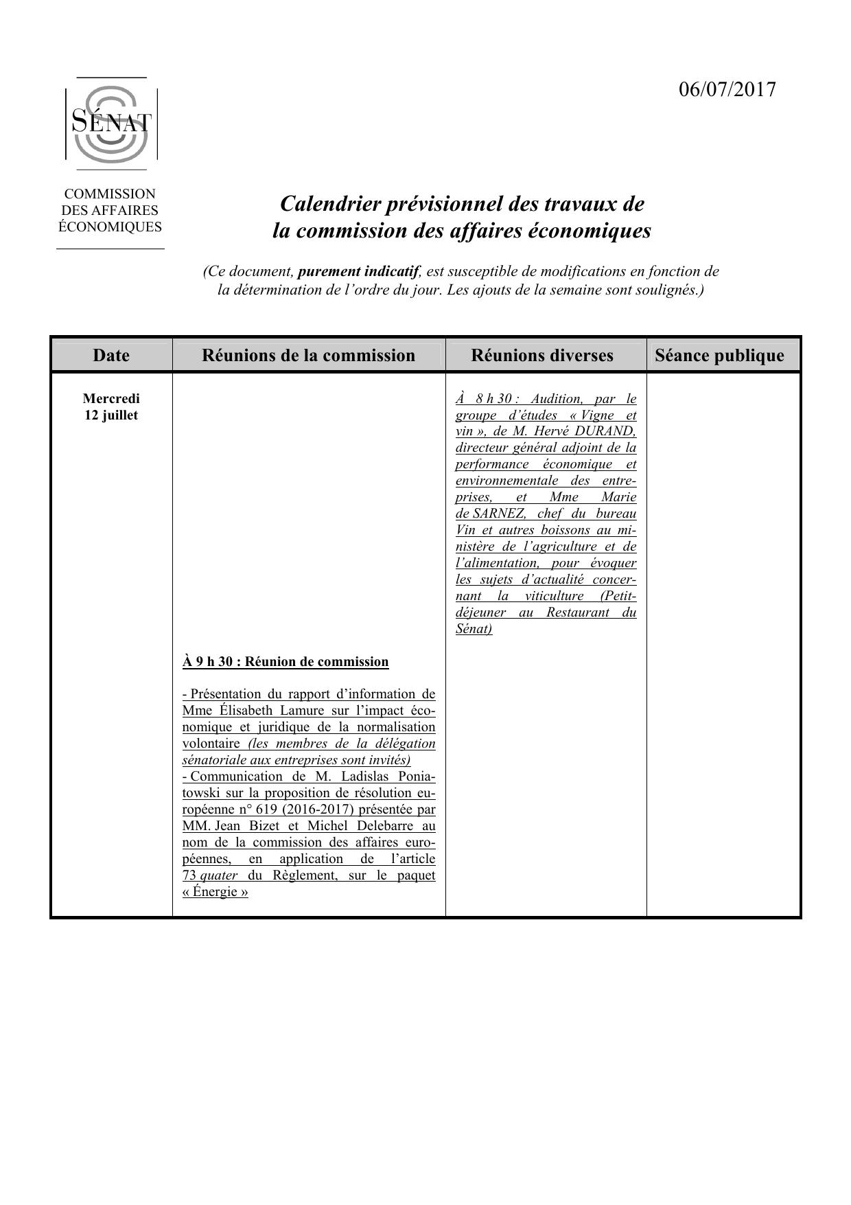 Travaux Vigne Calendrier.Calendrier Previsionnel Des Travaux De La Commission Des