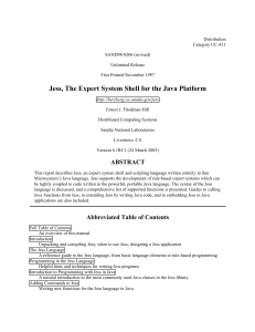 Jess, The Expert System Shell for the Java Platform