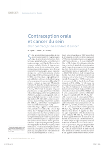 S Contraception orale et cancer du sein Oral contraception and breast cancer