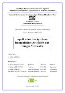 Application des systèmes immunitaires artificiels aux images medicales - application/pdf