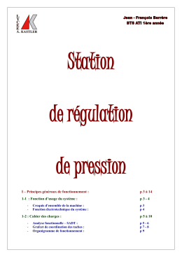 Station  de régulation de pression