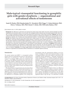 Male-typical visuospatial functioning in gynephilic activational effects of testosterone