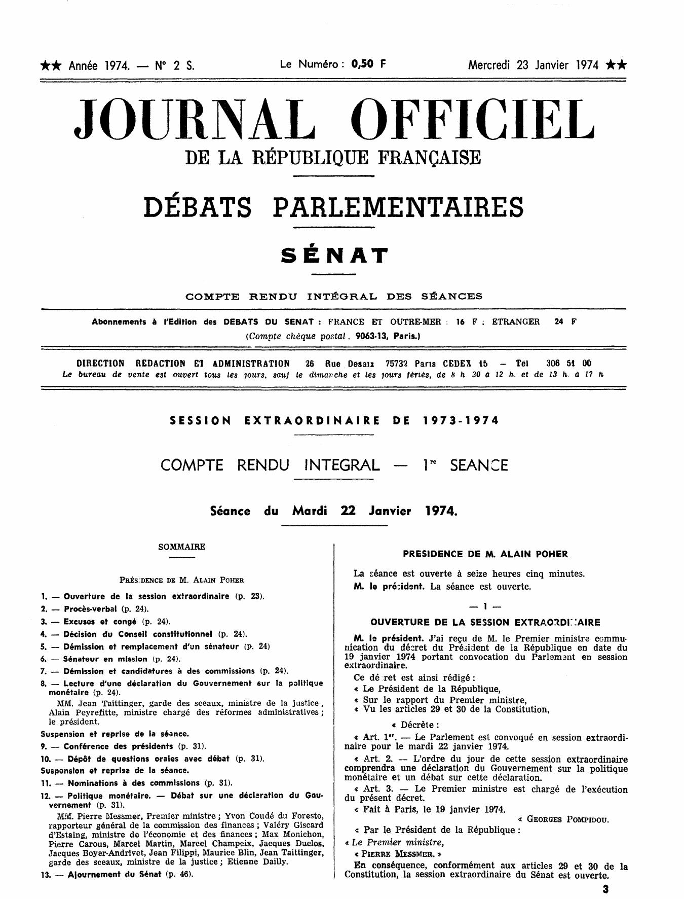 Journal Officiel Debats Parlementaires De La Republique