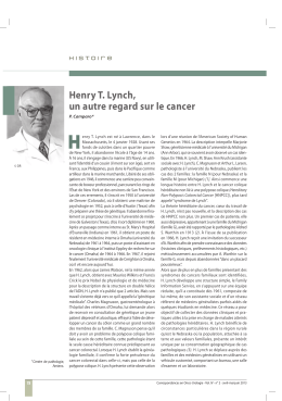H Henry T. Lynch, un autre regard sur le cancer