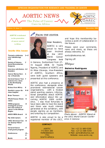 Click here to download the latest English AORTIC newsletter