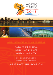 CANCER IN AFRICA: BRIDGING SCIENCE AND HUMANITY ABSTRACT PUBLICATION