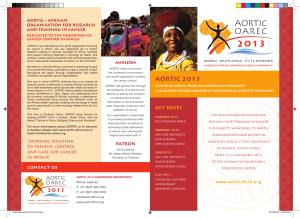 aoRtic – aFRican oRGanisation FoR REsEaRcH anD tRaininG in cancER