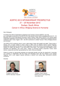 AORTIC 2013 SPONSORSHIP PROSPECTUS 21 – 24 November 2013 Durban, South Africa