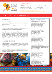 AORTIC 2015 AORTIC 2015 CALL FOR ABSTRACTS INVITATION