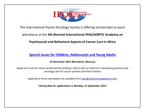 The International Psycho-Oncology Society is offering scholarships to assist