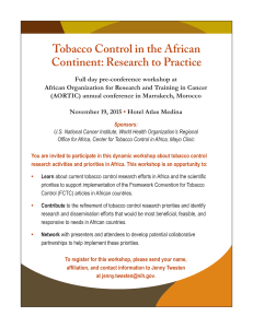 Tobacco Control in the African Continent: Research to Practice